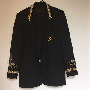 HarrisWallace Women's Blazer Black 100% Wool Lined